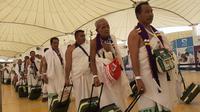 Jemaah Haji tiba di Bandara King Abdul Aziz, Jeddah. Darmawan/MCH