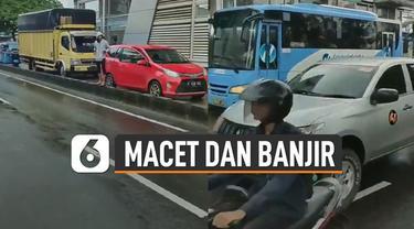 Sebuah video memperlihatkan bus TransJakarta terhenti karena ada banyak kendaraan umum yang melawan arus dan masuk ke dalam jalur TransJakarta. Hal tersebut dikarenakan banjir dan macet yang melanda Jakarta.