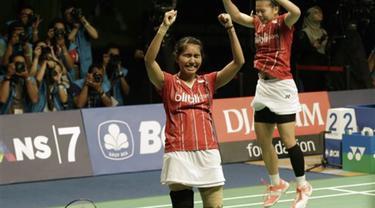 Pasangan ganda puteri Indonesia Greysia Polii/Nitya Krishinda Maheswari mempertahankan gelar di China Taipeh Grandprix Gold 2015.