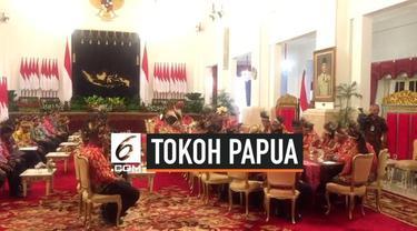Presiden Joko Widodo atau Jokowi menerima 61 tokoh Papua dan Papua Barat di Istana Negara Jakarta, Selasa (10/9/2019). Adapun yang hadir terdiri dari tokoh adat, masyarakat, agama, kepala suku, hingga mahasiswa.
