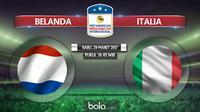 Pertandingan persahabatan Belanda vs Italia (Bola.com/Dody Iryawan)
