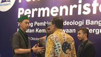 """Ketua Umum Pengurus Besar Himpunan Mahasiswa Islam (PB [HMI](3990621 """""""")), R Saddam Al Jihad tengah berbincang dalam sebuah acara di Jakarta. (Istimewa)"""