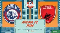 Shopee Liga 1 - Arema FC Vs PSM Makassar (Bola.com/Adreanus Titus)