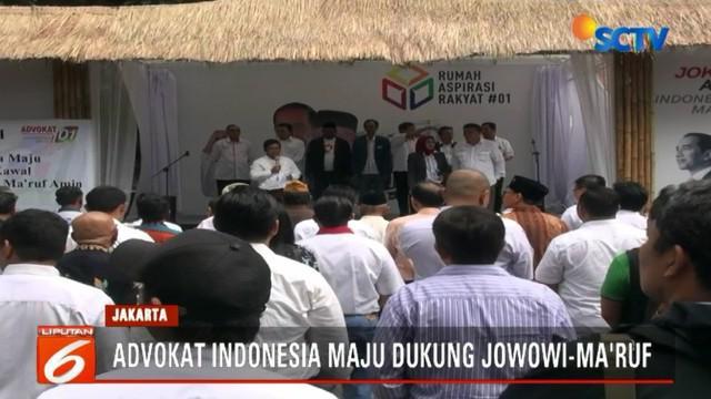 Deklarasi dukungan terhadap pasangan Jokowi-Ma'ruf dilakukan di halaman Rumah Aspirasi, Menteng, Jakarta Pusat.