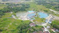 Ada tiga danau di area Telaga Cisoka dengan warna dan kedalaman yang berbeda. Kedalaman danau berkisar antara 15-20 meter. (Liputan6.com/ Andi Jatmiko)