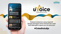 Fitur podcast uVoice di aplikasi muslim Umma mungkinkan pendakwah dan pembuat konten Islami untuk menggaungkan dakwahnya kepada lebih banyak orang (Foto: Umma).
