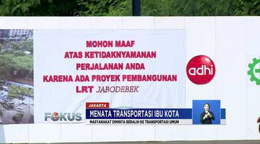 Jalan Setiabudi Tengah didutup hingga Februari 2020 demi pembangunan LRT Jakarta segmen Dukuh Atas.
