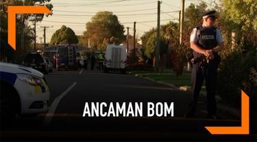 Polisi menangkap seorang pria usai petugas temukan paket dengan alat peledak di Christchurch, Selandia Baru. Ambulans dan petugas pemadam kebakaran diturunkan.