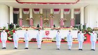 Inlah 8 Paskibra yang bertugas di Upacara 17 Agustus di Istana tahun ini (Lizsa Egeham/Liputan6.com)