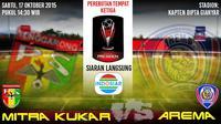 ilustrasi jadwal pertandingan Mitra Kukar vs Arema (Grafis: Abdillah/Liputan6)