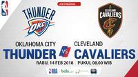Oklahoma City Thunder Vs Cleveland Cavaliers_2 (Bola.com/Adreanus Titus)