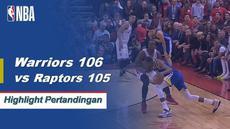 Berita video cuplikan pertandingan game 5 Final NBA 2019 antara Golden State Warriors melawan Toronto Raptors yang berakhir dengan skor tipis 106-105, Selasa (11/6/2019) pagi hari WIB.