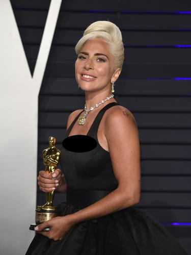 Lady Gaga dalam Oscar 2019 (Photo by Evan Agostini/Invision/AP)