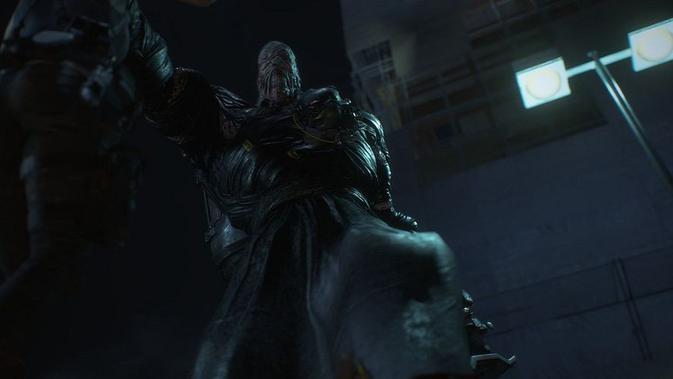Nemesis, musuh utama di gim Resident Evil 3. (Doc: Capcom)