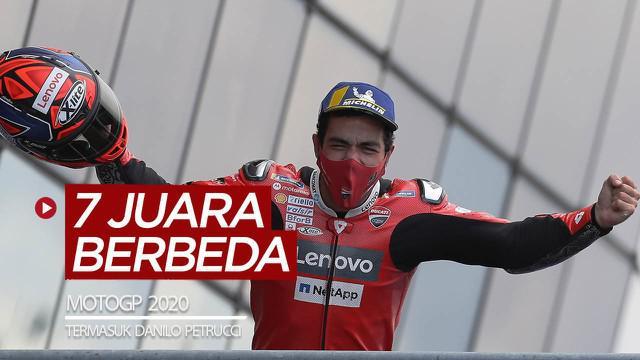 Berita video 7 pembalap berbeda yang menjadi juara di MotoGP 2020, termasuk Danilo Petrucci yang baru saja menjuara seri di Prancis.