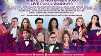 Semarak Indosiar Palembang, digelar Sabtu (21/11/2020) pukul 20.00 WIB live dari Studio EMTEK City, Jakarta Barat
