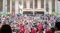 Relawan Solmet saat mendukung Jokowi di pilpres 2019.