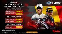 Jadwal dan Live Streaming Formula 1 Grand Prix Belgia di Vidio Pekan Ini 27-29 Agustus 2021. (Sumber : dok. vidio.com)