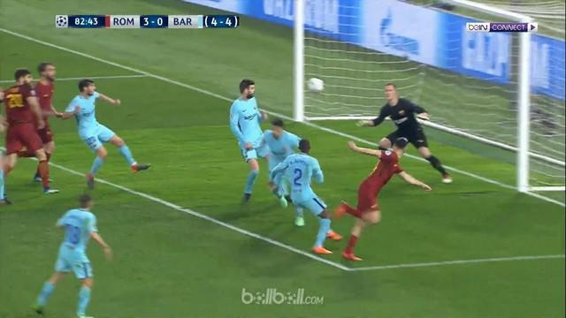 Berita video gol-gol yang tercipta pada laga AS Roma vs Barcelona pada leg kedua perempat final Liga Champions 2017-2018. This video presented by BallBall.