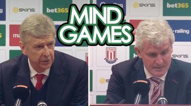 Berita video Mind Games yang kali ini menghadirkan konferensi pers setelah Arsenal kalahkan Stoke City 4-1 dan terjadinya gol kontroversial Peter Crouch.