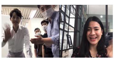 Ngidamnya Terpenuhi, Ini 6 Momen Felicya Angelista Video Call Bareng Song Joong Ki