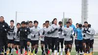Pelatih Shin Tae-yong memastikan Timnas Indonesia U-19 mengalami perkembangan positif selama menjalani pemusatan latihan selama tiga pekan di Spanyol. (dok