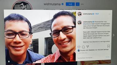 Unggahan Wishnutama. (Foto: Instagram @wishnutama)