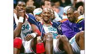 Clyde Drexler (tengah). (Photo/NBA.com)