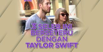 Siapa saja seleb yang pernah berseteru dengan Taylor Swift? Yuk, cek video di atas!