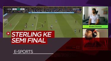 Berita Video Raheem Sterling kembali memenangkan pertandingan melawan Andre Gomes di ePreimier League FIFA 20