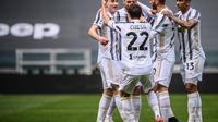 Kulusevski mencetak gol pertama untuk Juventus saat menghadapi Genoa (AFP)