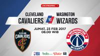 Jadwal NBA, Cleveland Cavaliers Vs Washington Wizards. (Bola.com/Dody Iryawan)