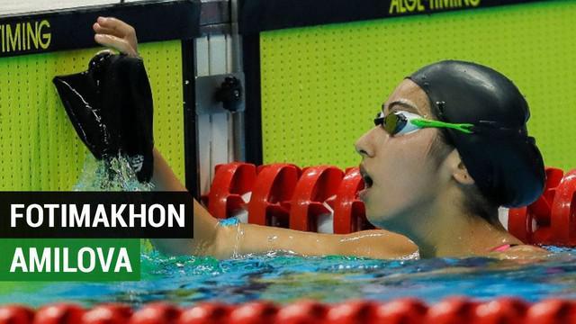 Berita  video atlet putri Uzbekistan, Fotimakhon Amilova cabang olahraga para renang mencetak 2 rekor dunia di Asian Para Games 2018.