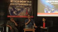Diskusi Media: Indonesia Bagian Timur Lebih Butuh Broadband (Denny Mahardy/ Liputan6.com)