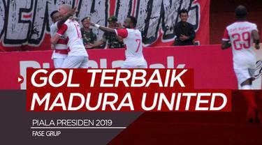 Berita video gol-gol terbaik Madura United yang tercipta pada fase grup Piala Presiden 2019.