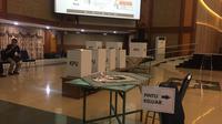 Simulasi pemungutan suara Pemilu 2019 bagi penyandang disabilitas. (Muhammad Radityo Priyasmoro)