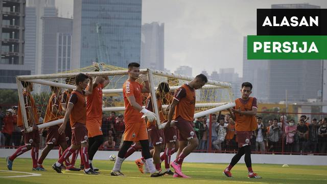 Direktur Utama Persija, Gede Widiade mengungkapkan alasan mengapa Persija hanya latihan seminggu sekali di Lapangan Aldiron, Pancoran.