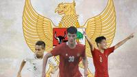 Timnas Indonesia - Evan Dimas, Elkan Baggott, Witan Sulaeman (Bola.com/Adreanus Titus)