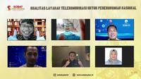 Webinar Sobat Cyber Indonesia yang bertajuk Kualitas Layanan Telekomunikasi Untuk Perekonomian Indonesia (Istimewa)