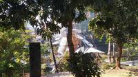 Kondisi gudang amunisi Mako Brimob usai meledak dan terbakar. (foto: Liputan6.com/edhie prayitno ige)
