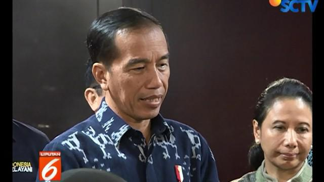 Presiden Jokowi sendiri hanya menjawab dengan santai saat ditanya persiapan debat nanti.