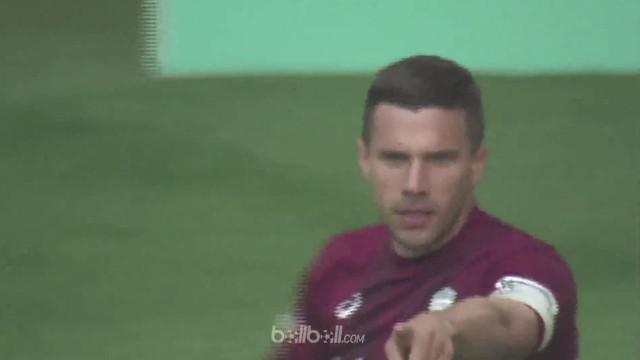 Berita video Lukas Podolski menyumbang gol saat Vissel Kobe menang atas Nagoya Grampus di Liga Jepang 2018. This video presented by BallBall.