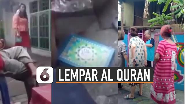 Beredar video wanita melempar kitab suci Al Quran di Makassar, Sulawesi Selatan. Kejadian ini terjadi pada hari kamis (09/07/2020).