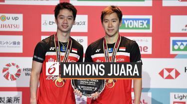 Ganda Kevin Sanjaya Sukamuljo / Marcus Fernaldi Gideon sukses raih juara di turnamen Japan Open 2019. Hari Minggu (28/7) minions kalahkan Hendra Setiawan / Mohammad Ahsan di final.