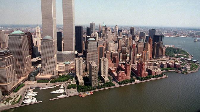 Pelaku serangan 9/11 berawal saat 19 pembajak dari kelompok militan Al Qaeda membajak 4 pesawat jet penumpang pertama Boeing-767 (AP)