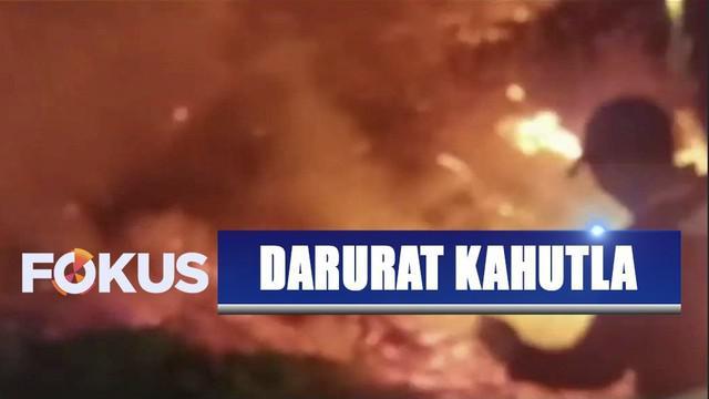 Hutan lereng Gunung Slamet, Jawa Tengah, kembali terbakar hingga meluas ke wilayah Brebes dan Banyumas.