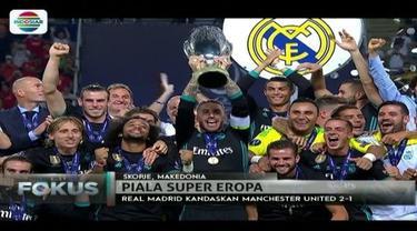 Real Madrid berhasil tekuk si Setan Merah, Manchester United, dengan skor 2-1 dalam Piala Super Eropa 2017.