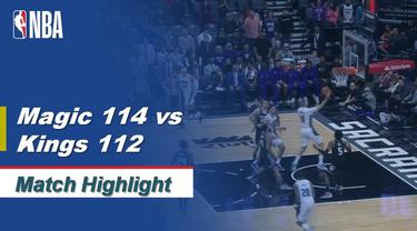 Berita Video Highlights NBA 2019-2020, Orlando Magic Vs Sacramento Kings 114-112