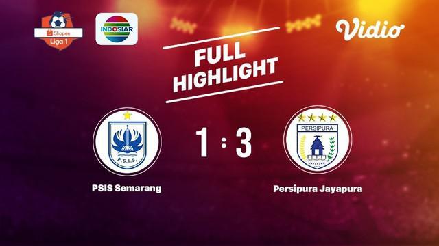 Laga lanjutan Shopee Liga 1, PSIS Semarang VS PERSIPURA Jayapura berakhir dengan skor 1-3 #shopeeliga1