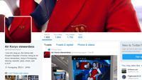 Akun yang diduga milik pramugari Koryo Air Korea Utara (Twitter/ @misskimpyongya1)